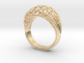 Wired ring in 14K Yellow Gold