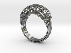 Wired ring in Polished Silver