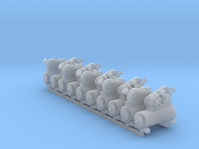 Air Compressor 10 Pack 1-87 HO Scale in Smooth Fine Detail Plastic