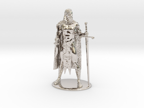 AdventureQuest: Jaern Barbarian Miniature in Rhodium Plated Brass: 1:60.96