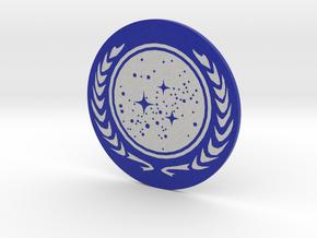 United Federation of Planets Coin = DESKAPADES = in Full Color Sandstone: Small