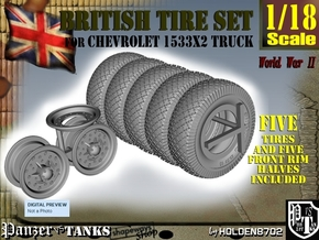 1-18 Chevy LRDG Tire And Rims in Black Natural Versatile Plastic