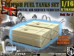 1-16 SAS Jeep Fuel Tanks in Black Natural Versatile Plastic
