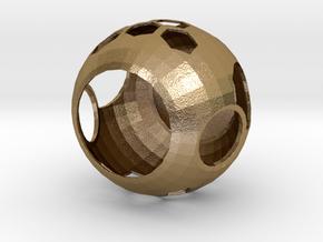 Tea Light Candle in Polished Gold Steel: Medium