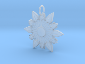 Elegant Chic Flower Pendant Charm in Smooth Fine Detail Plastic