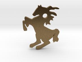 Horse Pendant in Natural Bronze