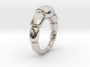 Magdalena - Ring in Rhodium Plated Brass: 6 / 51.5