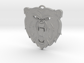 Angry Bear Cartoon Pendant Charm in Aluminum