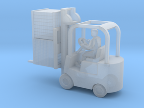 Forklift With Driver & Load - N 160:1 Scale in Smooth Fine Detail Plastic