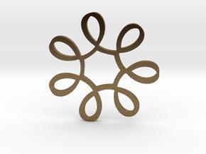 Looped Circle Pendant in Natural Bronze