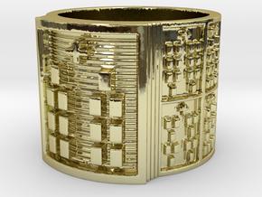BABA OBARA MEYI Ring Size 11-13 in 18k Gold Plated Brass: 12 / 66.5