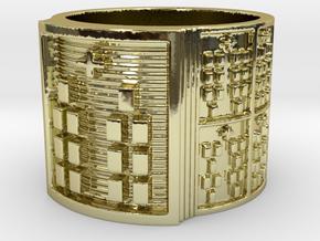 BABA OBARA MEYI Ring Size 13.5 in 18k Gold Plated Brass