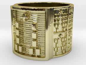 BABA OGUNDA MEYI Ring Size 13.5 in 18k Gold Plated Brass