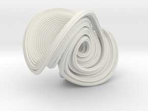 Lorenz (mod 2) Attractor in White Natural Versatile Plastic