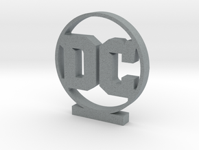 DC Comics Logo in Polished Metallic Plastic