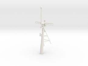 1/96 scale Hamilton Mast - Rear in White Natural Versatile Plastic