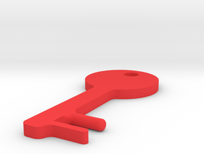 Key Shaped SmartPhone Stand in Red Strong & Flexible Polished