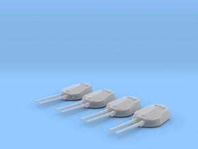 "1/600 RN WW1 13.5"" MKV Guns x4 HMS Tiger in Smoothest Fine Detail Plastic"