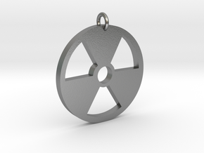 Radioactive Pendant in Natural Silver