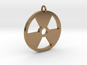 Radioactive Pendant in Natural Brass