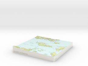 Ulva Island / Te Wharawhara - 15cm / 1:50k in Glossy Full Color Sandstone