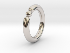 Bali Bania - Ballamond Ring in Rhodium Plated Brass: 6 / 51.5