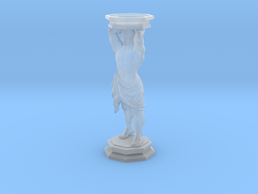 Column: Standing figure with base in Smooth Fine Detail Plastic