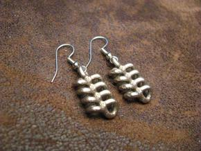 Dangletwyst Earrings in Polished Bronzed Silver Steel