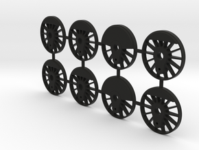 TH&B As-class 1-48 Driver Set For Proto48 Tyres in Black Natural Versatile Plastic