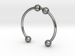 Bead Bracelet in Polished Silver (Interlocking Parts)
