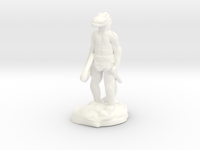 Kobold Archer, Standing Relaxed With Shortbow in White Processed Versatile Plastic