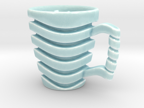 Wave Mug in Gloss Celadon Green Porcelain