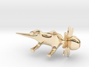Petal Monster Lizard  in 14k Gold Plated Brass: Large