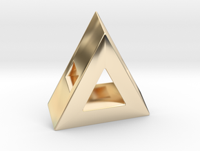 40 Degree ::: Triangle Pendant ::: v.01 in 14k Gold Plated Brass