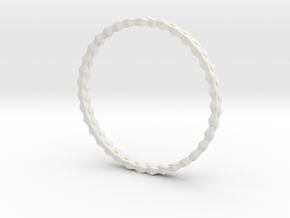 Spirală Bangle in White Natural Versatile Plastic: Small