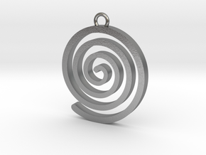Spiral Pendant in Natural Silver