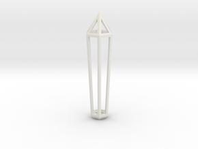 Crystal Frame in White Natural Versatile Plastic