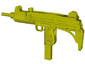 1/15 scale IMI Uzi submachinegun x 1 in Smooth Fine Detail Plastic