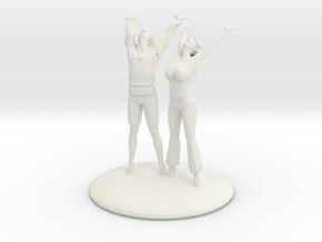 Divine Celebration Couple in White Natural Versatile Plastic