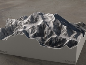 Denali, Alaska, USA, 1:100000 Explorer in Full Color Sandstone