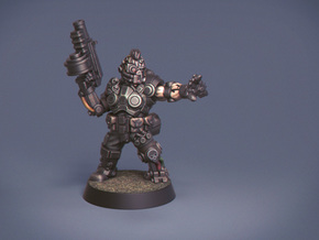 Space Mercenary  in Black Hi-Def Acrylate