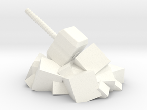 Norse Gods' Hammer in White Processed Versatile Plastic