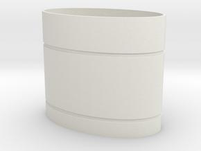 Rekki-Maru Scabbard Collar in White Natural Versatile Plastic
