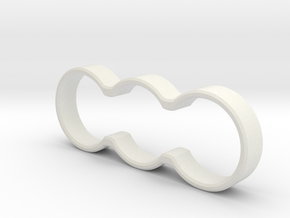 Minimal Double Spinner (Standard Bearing) in White Natural Versatile Plastic