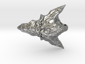 Dragon Head Pendant Top 02 in Raw Silver