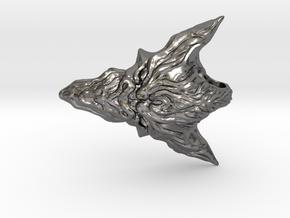 Dragon Head Pendant Top 02 in Polished Nickel Steel