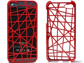 iPhone 5 Case - Abstract in Red Strong & Flexible Polished