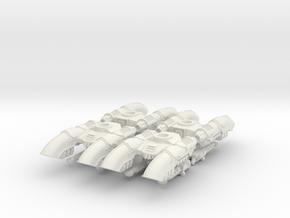 6mm Claudius Anti-Grav Tanks (4pcs) in White Natural Versatile Plastic