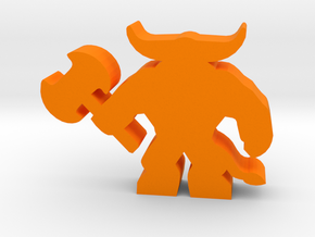 Game Piece, Minotaur in Orange Processed Versatile Plastic