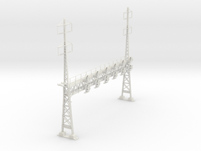 HO Scale PRR W-signal LATTICE 6 Track  W 2-2 PHASE in White Natural Versatile Plastic